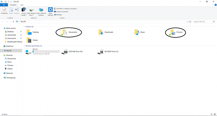 how to change my documents location windows 10