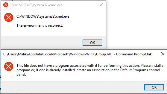Click image for larger version.  Name:CMD failure.JPG Views:7 Size:35.3 KB ID:108701