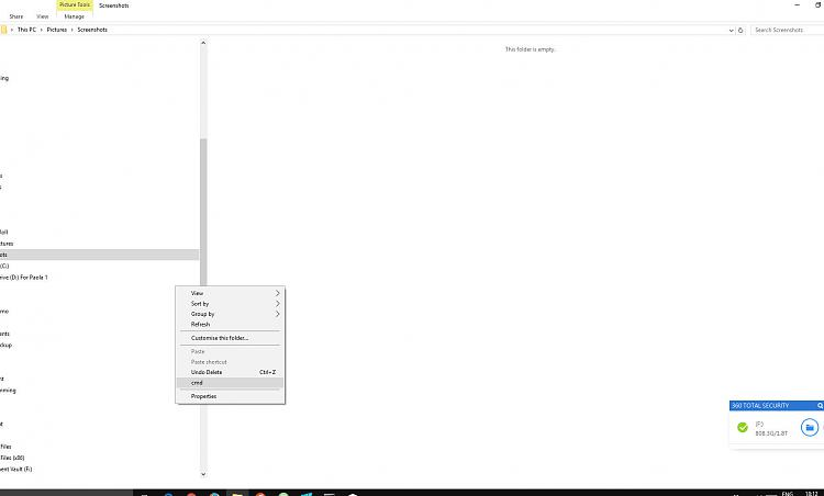 """Context menu """"New"""" missing, seems to be replaced by """"cmd""""-screenshot-2016-11-19-18.12.21.jpg"""