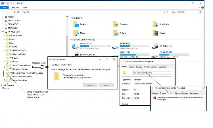I have some folders that I can't delete. OS says folder doesn't exist-mypc_screenshot.jpg