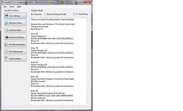 EasyBCD Boot Entries After Macrium.jpg