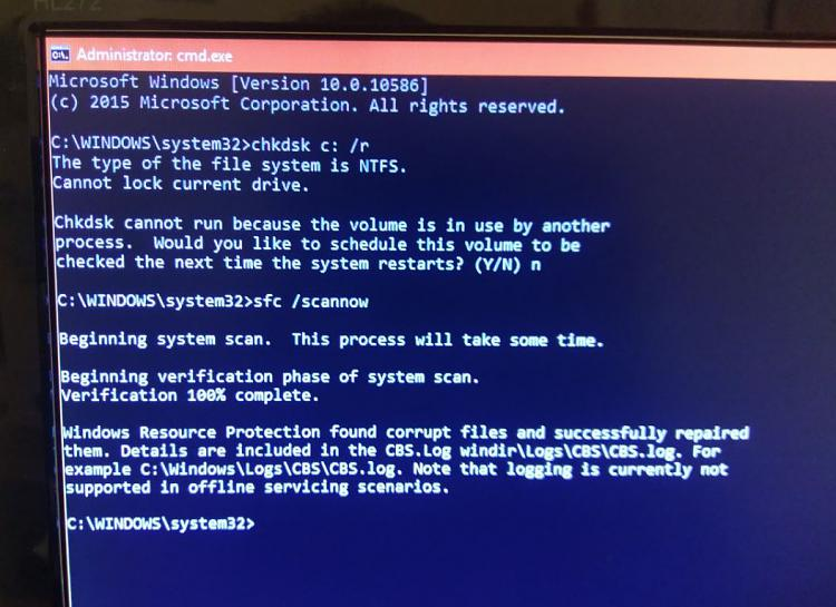 Click image for larger version.  Name:chkdsk will not work through safemode with command prompt through system - not usb.jpg Views:1 Size:113.5 KB ID:116028