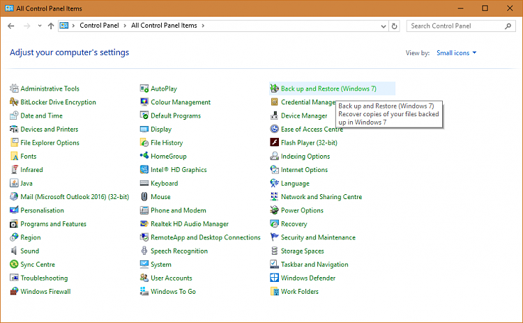 Control Panel List Solved - Windows 10 Forums