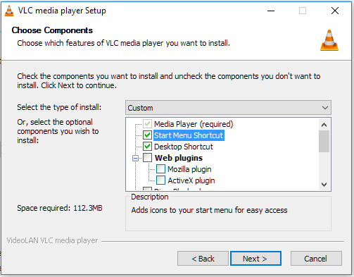 Click image for larger version.  Name:VLC setup.PNG Views:41 Size:20.0 KB ID:116766