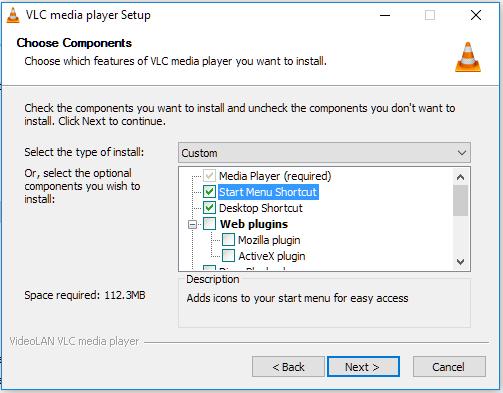 Click image for larger version.  Name:VLC setup.PNG Views:40 Size:20.0 KB ID:116766