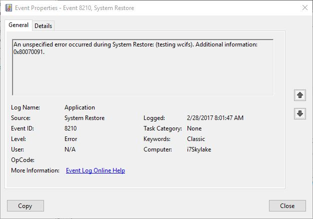 Click image for larger version.  Name:restore-fail-msg.jpg Views:33 Size:39.6 KB ID:123102