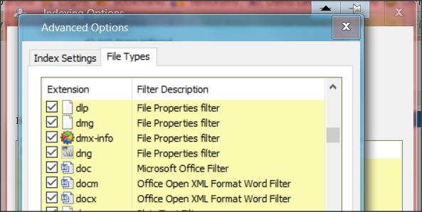 Newly made Word docs don't show up in Explorer searches