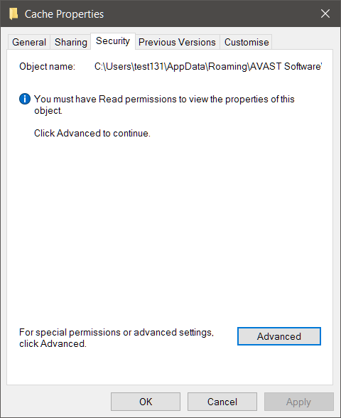 Cannot get folder permissions    Solved - Windows 10 Forums