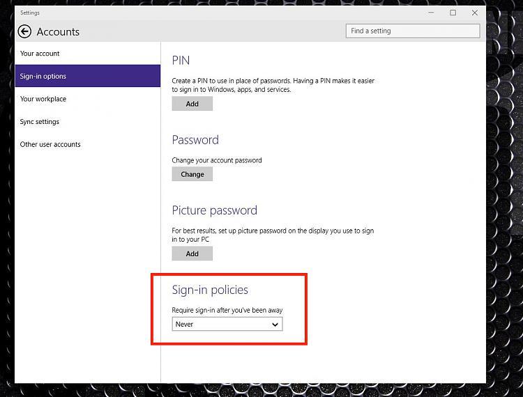 how to change password on lock screen windows 10