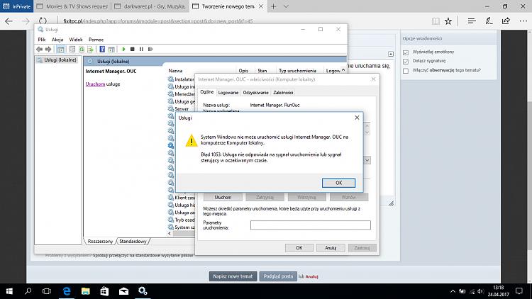 Unable to start service, error 1053 - Windows 10 Forums