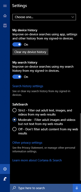 bing search history problem windows 10 forums