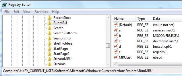 Click image for larger version.  Name:RunMRU Reg Entry.PNG Views:15 Size:42.0 KB ID:140094
