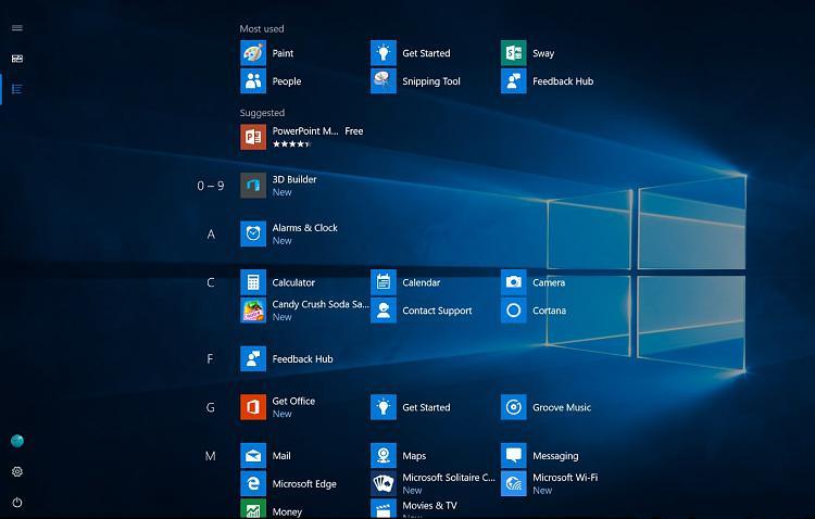 New Windows 10 Start Menu (Tablet Mode) - Windows 10 Forums