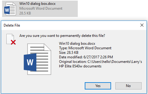 Click image for larger version.  Name:Recycle bin-delete-Dialog box.PNG Views:41 Size:15.1 KB ID:141431