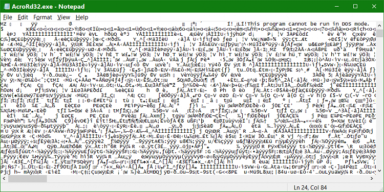 Click image for larger version.  Name:EXE In Notepad.png Views:2 Size:91.4 KB ID:147504