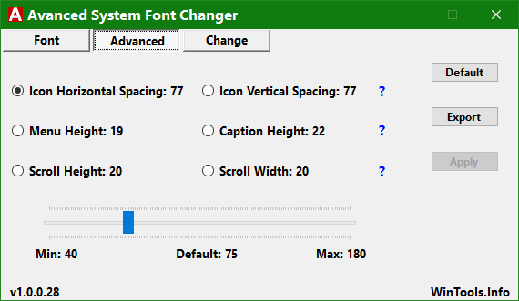Click image for larger version.  Name:Advanced System Font Changer.png Views:12 Size:11.1 KB ID:147829