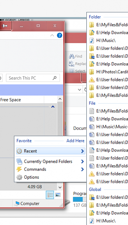 How do I expand the 'Recent' list in the File Explorer?-1.png