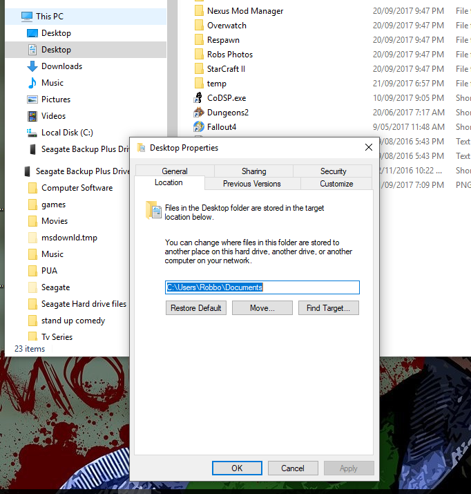 Cant get My documents folder to retore to default-image.png