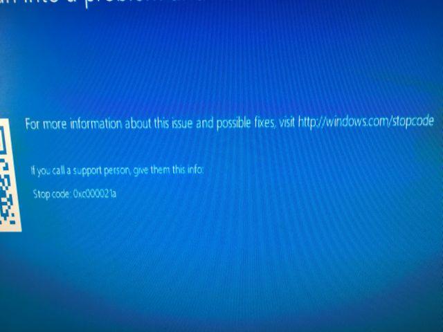Error 0xc000021a - Windows 10 Forums