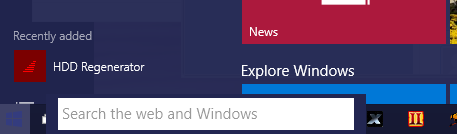 how to remove search bar windows 10