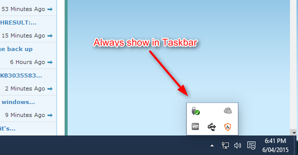 show taskbar in windows 10