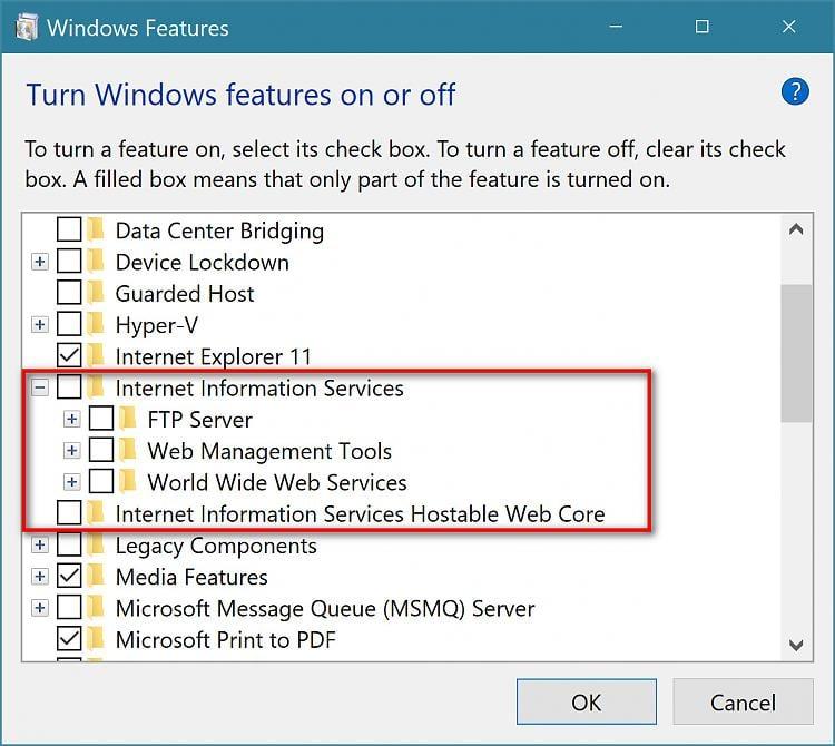 how to delete inetpub windows 10