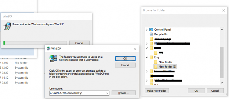 Click image for larger version.  Name:WinSCP Installer Problem.png Views:1 Size:99.8 KB ID:163765