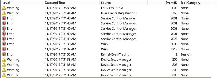 Click image for larger version.  Name:WAS EVENT VIEWER.JPG Views:5 Size:70.2 KB ID:164322