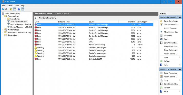 Click image for larger version.  Name:Errors on Event Viewer.JPG Views:2 Size:141.9 KB ID:164495
