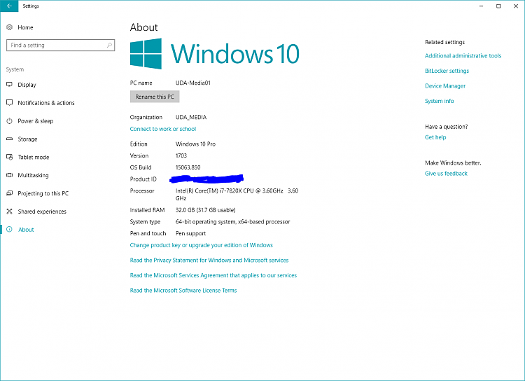 """No icons for """"Phone"""" or """"Cortana"""" in Windows settings-settings-about.png"""