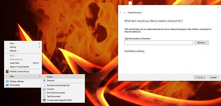 "Create  ""New Folder"" opens ""New Shortcut"" on desktop any ideas?-no-folder.jpg"
