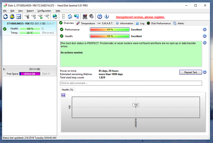 Click image for larger version.  Name:Hard Disk Sentinel.PNG Views:1 Size:177.6 KB ID:175866
