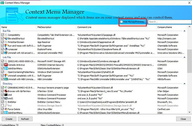 Click image for larger version.  Name:Context Menu Manager.jpg Views:1 Size:150.9 KB ID:181245