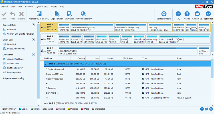 GPT SSD Disk - Manage EFI multi-boot for partitions Windows 10 and