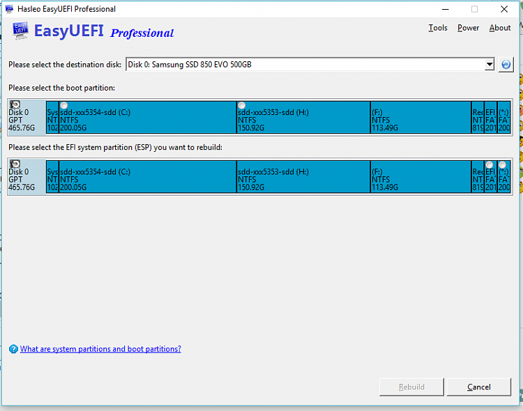 GPT SSD Disk - Manage EFI multi-boot for partitions Windows