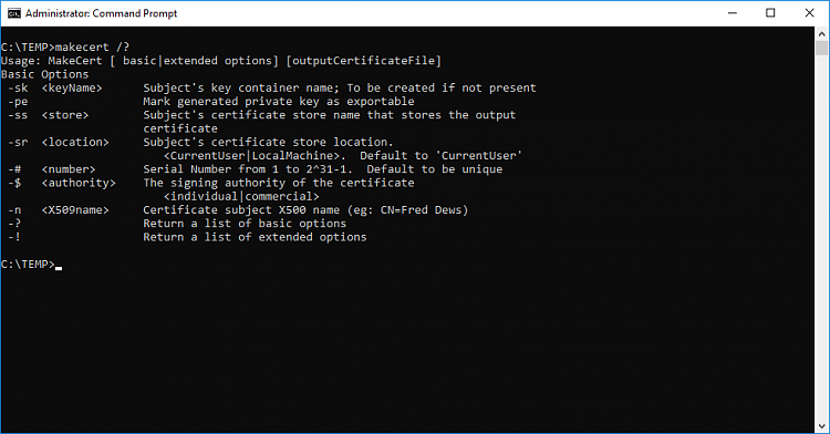 How to sign Powershell profile w/ self-signed certificate?-createcert009.png