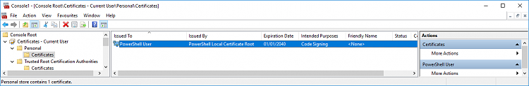 How to sign Powershell profile w/ self-signed certificate?-createcert019.png