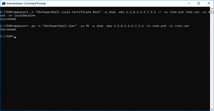 How to sign Powershell profile w/ self-signed certificate?-createcert020.png