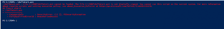 How to sign Powershell profile w/ self-signed certificate?-createcert025.png
