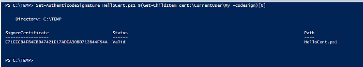How to sign Powershell profile w/ self-signed certificate?-createcert026.png