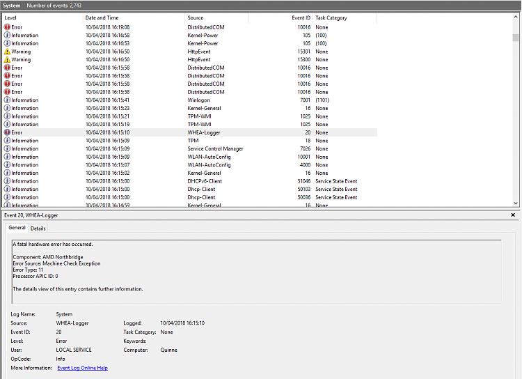 Windows keeps on rebooting randomly (DCOM error) - Windows 10 Forums
