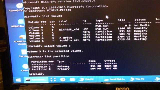 Click image for larger version.  Name:diskpartvolume.JPG Views:8 Size:126.0 KB ID:184869