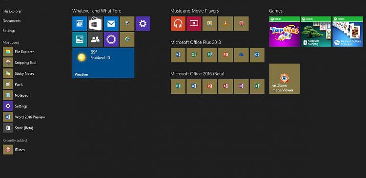Click image for larger version.  Name:Windows 10 Start Menu.jpg Views:28 Size:95.8 KB ID:18494