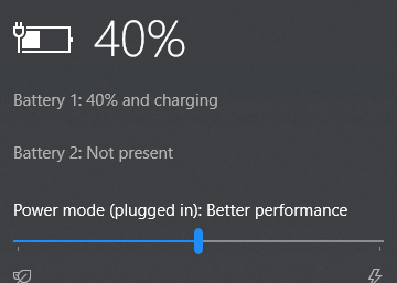 Laptop turns off & battery stuck at same percentage