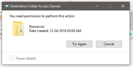 """Can't put a file back in """"Windows\Boot\Resources"""".-2018-07-02_181615.jpg"""