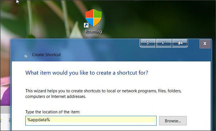 Appdata local folder shortcut