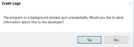Crash Logs Pop Up Solved - Windows 10 Forums