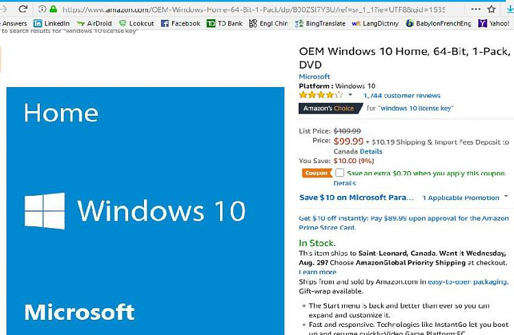 Win 10 Home Download