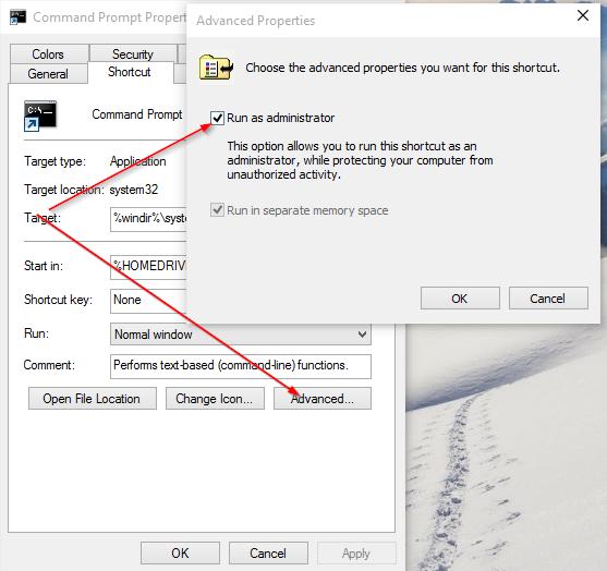 cmd prompt change to admin