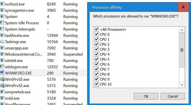 unable to set core affinity windows 10 forums rh tenforums com